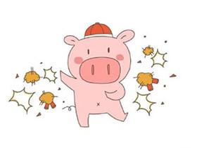 猪年卡通小猪简笔画画法图片步骤