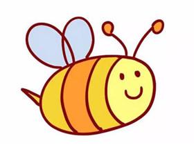 卡通小蜜蜂简笔画画法图片步骤