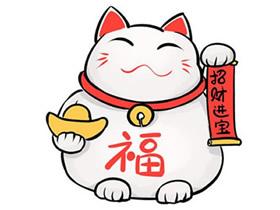 可爱招财猫简笔画画法图片步骤