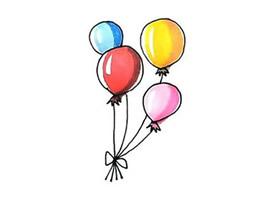节日气球简笔画画法图片步骤