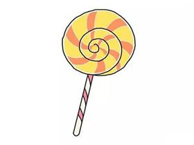 彩色波板糖简笔画画法图片步骤