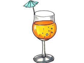 一杯果汁简笔画画法图片步骤