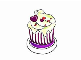 纸杯蛋糕简笔画画法图片步骤