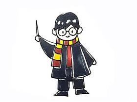 哈利波特简笔画画法图片步骤