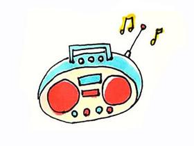 彩色收音机简笔画画法图片步骤