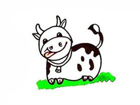 可爱小奶牛简笔画画法图片步骤