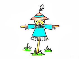 彩色稻草人简笔画画法图片步骤