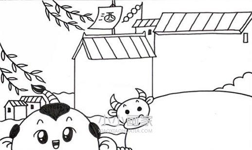儿童清明节简笔画画法图片步骤 小小画家