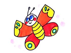 春天花蝴蝶简笔画画法图片步骤