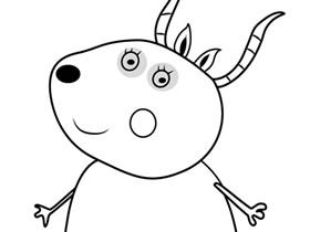 羚羊老师简笔画画法图片步骤