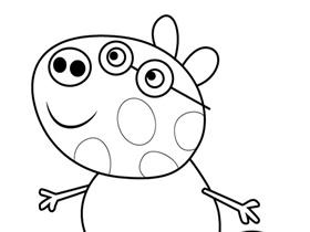 小猪佩奇小马佩德罗简笔画画法图片步骤