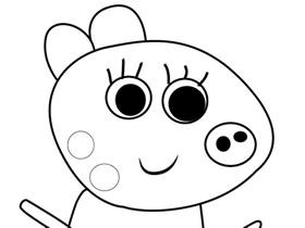 小猪佩奇小马帕蒂简笔画画法图片步骤