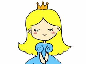美丽公主简笔画画法图片步骤