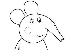小象爱米丽的妈妈简笔画画法图片步骤