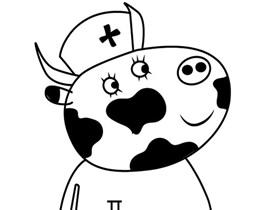 小猪佩奇奶牛妈妈简笔画画法图片步骤