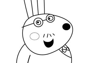 小兔瑞贝卡的爸爸简笔画画法图片步骤