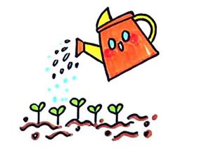 浇水简笔画画法图片步骤