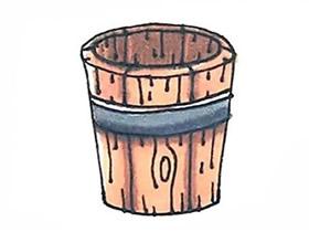 木桶简笔画画法图片步骤