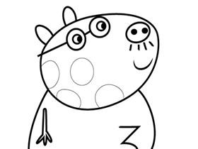 小马佩德罗爸爸简笔画画法图片步骤