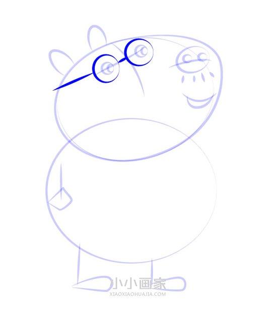 小马佩德罗爸爸简笔画画法图片步骤- www.xiaoxiaohuajia.com