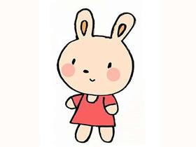 卡通兔子简笔画画法图片步骤