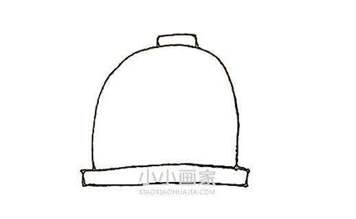 简单鸟笼简笔画画法图片步骤- www.xiaoxiaohuajia.com