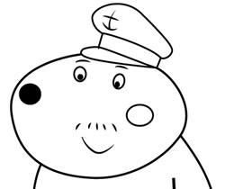 小狗丹尼爸爸简笔画画法图片步骤