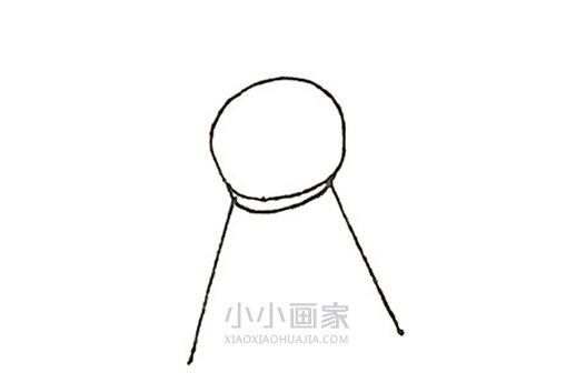 晴天娃娃简笔画画法图片步骤- www.xiaoxiaohuajia.com
