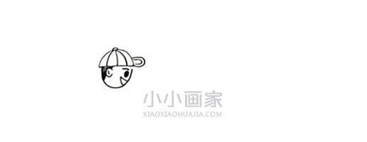 五一劳动节种树简笔画画法图片步骤- www.xiaoxiaohuajia.com