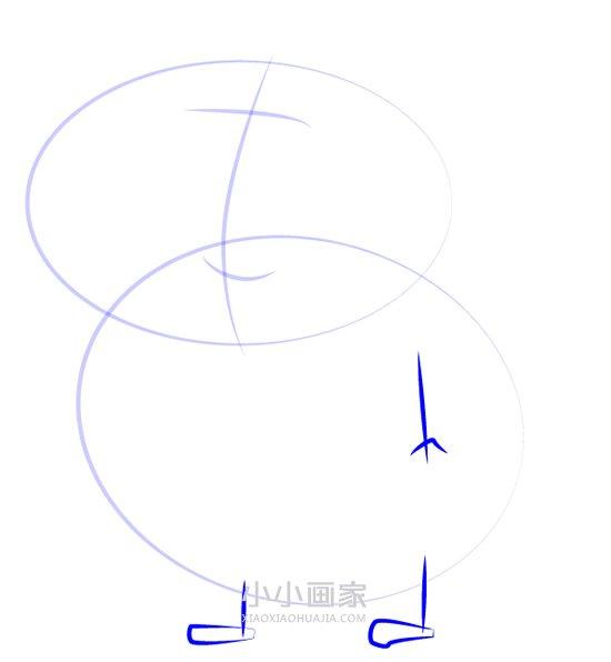 小狗丹尼爸爸简笔画画法图片步骤- www.xiaoxiaohuajia.com
