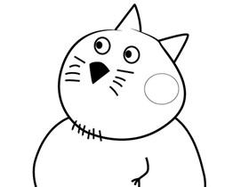 小猫坎迪的爸爸简笔画画法图片步骤
