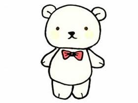 小熊玩偶简笔画画法图片步骤