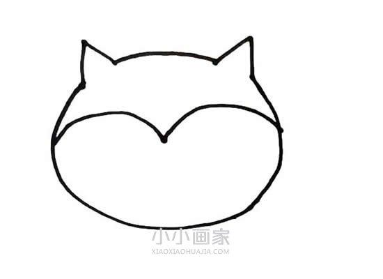 狐狸宝宝简笔画画法图片步骤- www.xiaoxiaohuajia.com
