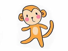 超萌小猴子简笔画画法图片步骤