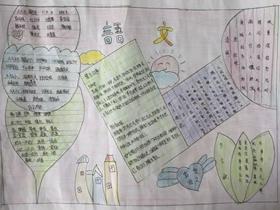 语文手抄报简单又漂亮初中一年级