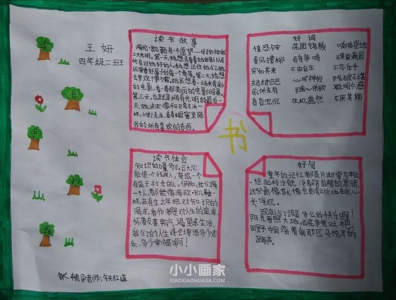 遨游汉字王国手抄报内容图片简单又漂亮四年级- www.xiaoxiaohuajia.com