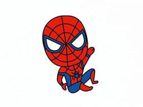 卡通蜘蛛侠简笔画画法图片步骤