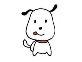 超萌卡通小狗简笔画画法图片步骤