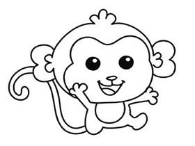 猴子宝宝简笔画画法图片步骤