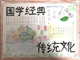 国学经典手抄报简易画二年级一等奖