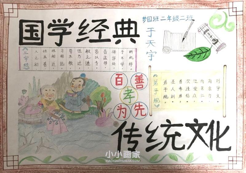 www.weitian521.com,国学经典手抄报简易画二年级一等奖 法学信息网