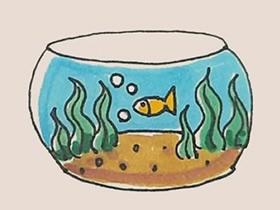 玻璃鱼缸简笔画画法图片步骤