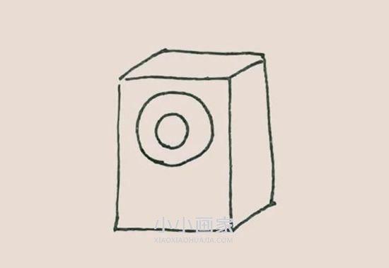 彩色音箱简笔画画法图片步骤- www.xiaoxiaohuajia.com