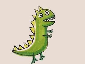 乔治的恐龙玩具简笔画画法图片步骤
