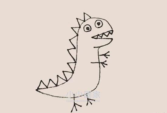 乔治的恐龙玩具简笔画画法图片步骤- www.xiaoxiaohuajia.com