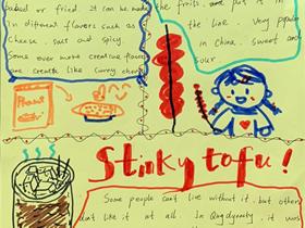 Stinky tofu长沙臭豆腐英语手抄报图片
