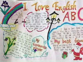 I Love English我爱英语手抄报简单漂亮