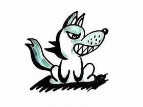 坏坏的大灰狼简笔画画法图片步骤