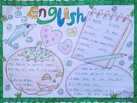 五年级英语课堂手抄报简单又漂亮