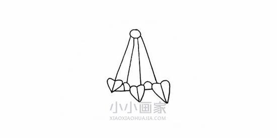 彩色吊兰简笔画画法图片步骤- www.xiaoxiaohuajia.com